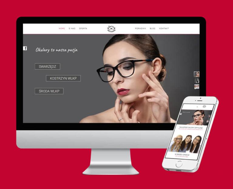 Responsywna strona www optyk swiatokularow
