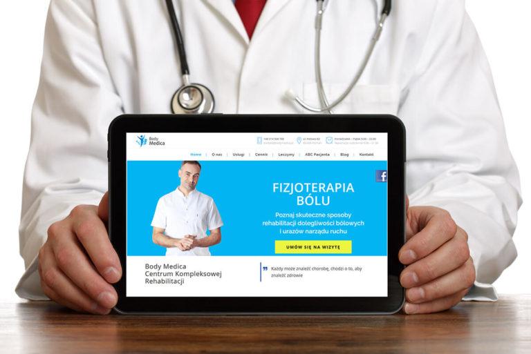 Strona www dla Body-Medica Poznan
